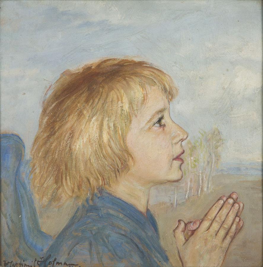 Modlący się anioł , 1921 r.