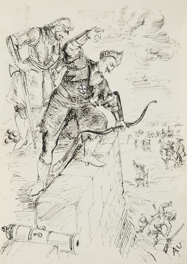 Andrzej Kmicic - ilustracja do Potopu Henryka Sienkiewicza