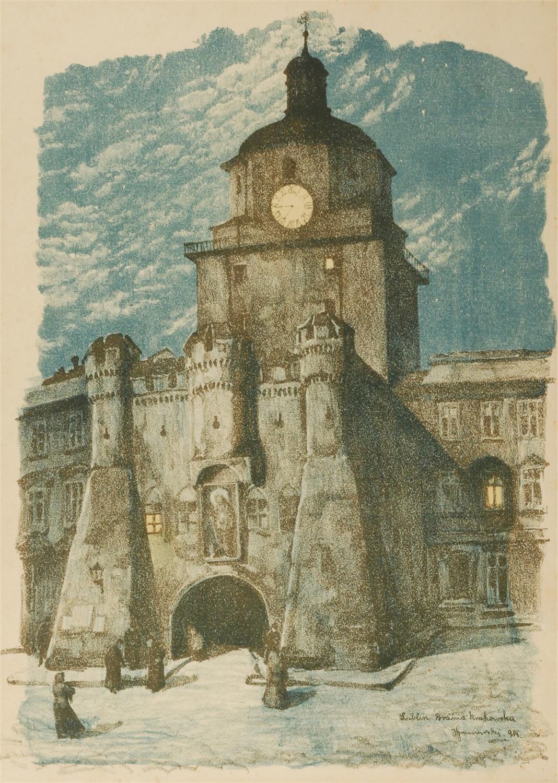 Lublin. Brama Krakowska, z cyklu: Motywy architektury polskiej, 1918