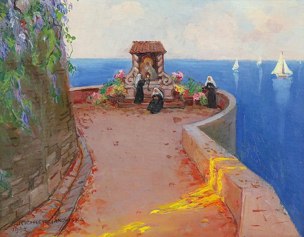 Capri - Zakonnice przed obrazem Matki Boskiej, 1942