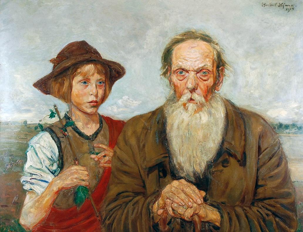 Pastuszek i starzec, 1914