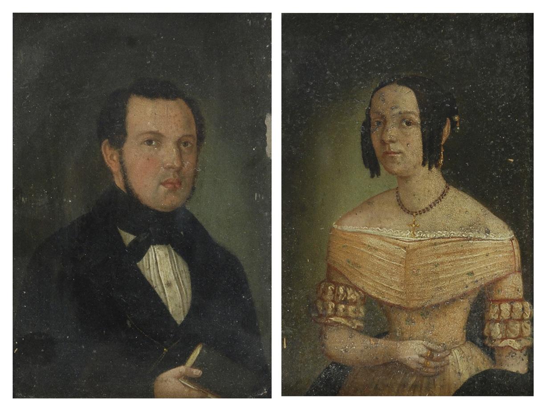 Para portretów Karla i Antonii Simon, przed 1848