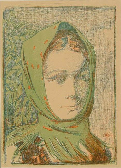 Dziewczyna w zielonej chustce