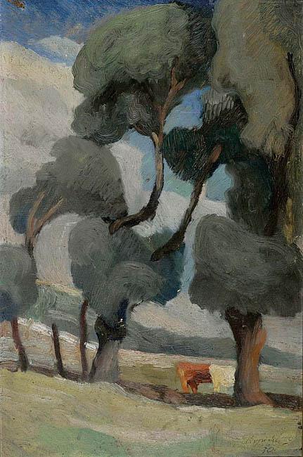 PEJZAŻ Z KROWAMI, 1930
