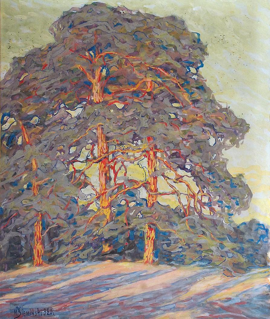 Sosny w słońcu, 1920
