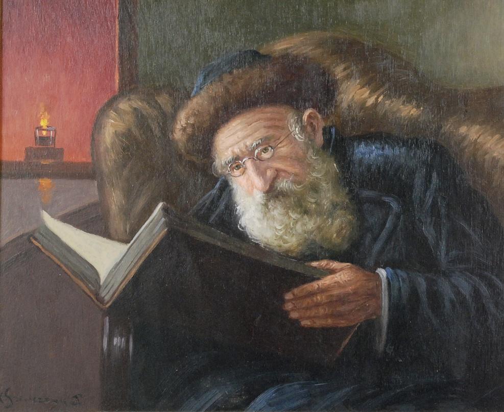 Stary Żyd z księgą