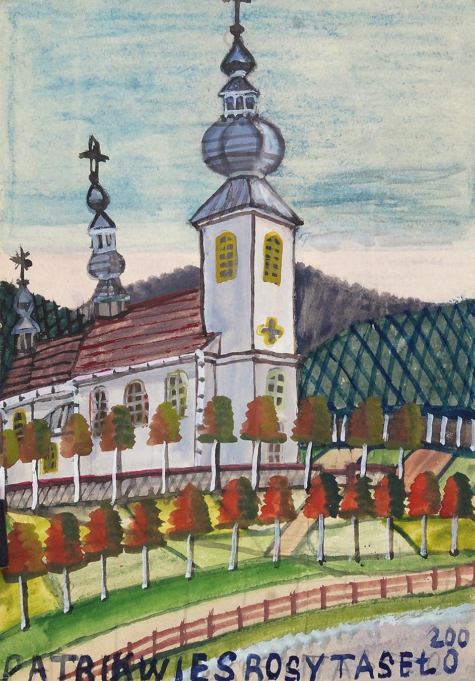 Kościół z białą fasadą