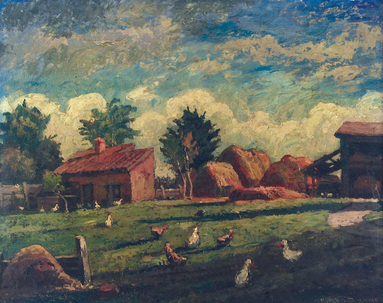 Wiejskie podwórko