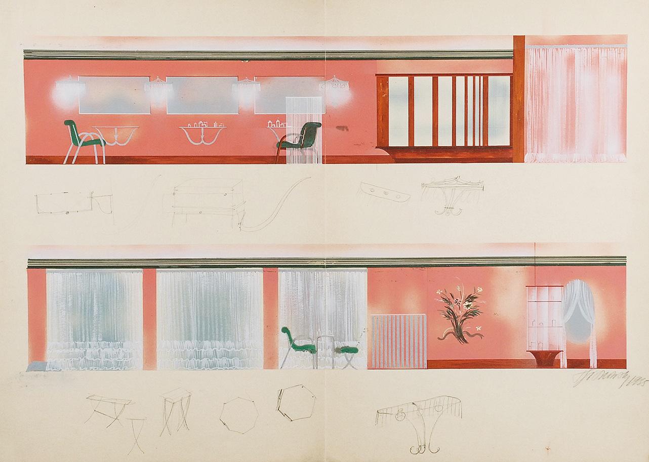 Projekt wnętrza V, 1985