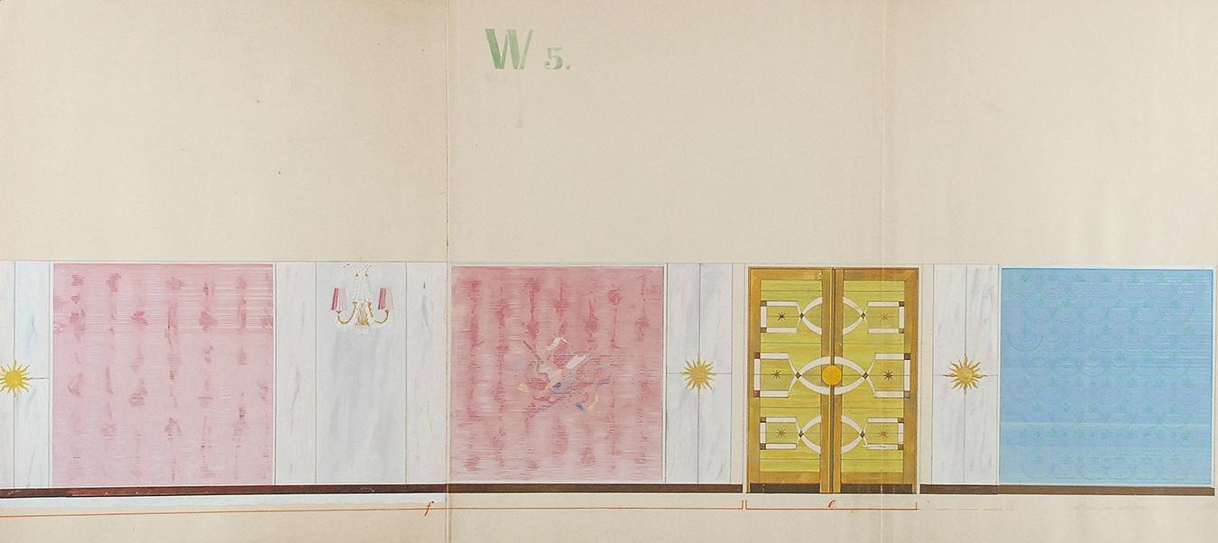 Projekt wnętrza - W5, 1962