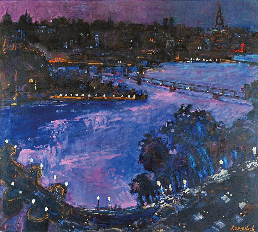 Pejzaż nocny z Paryża [Pont Neuf i Pont Des Arts], 1996