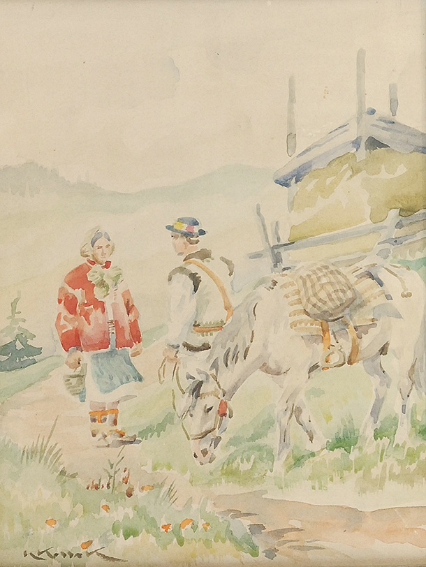 Scena huculska, przed 1939