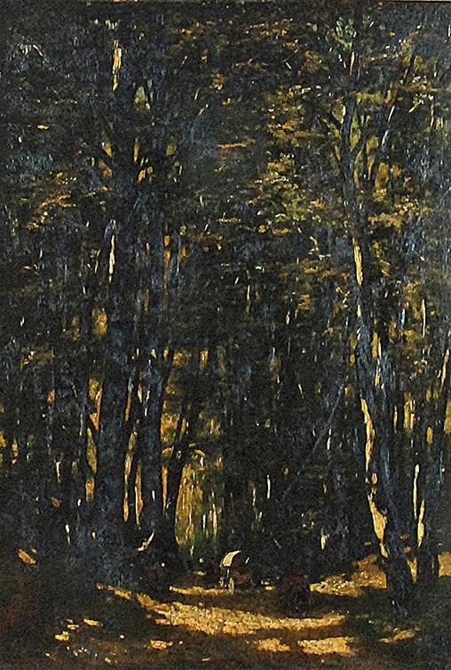 Tabor w lesie