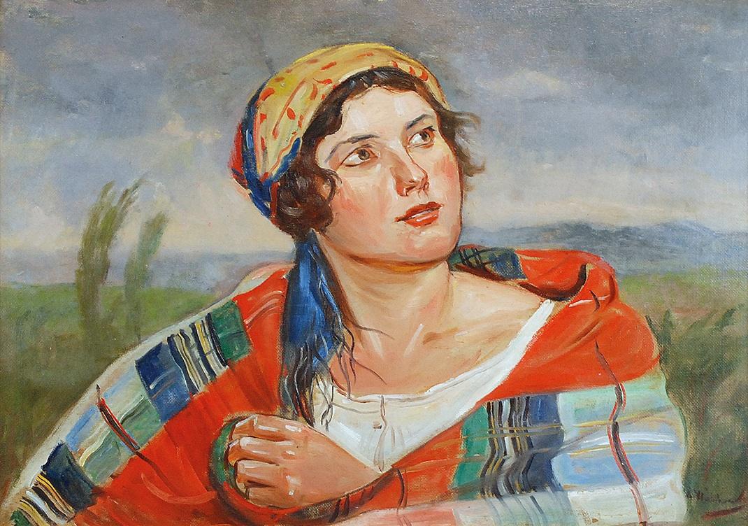 Wiejska dziewczyna, ok. 1920