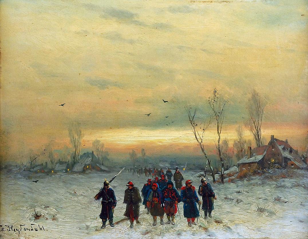 Konwój jeńców, ok. 1880