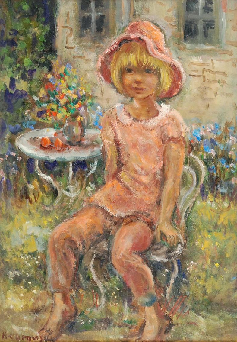 Dziewczynka w ogrodzie - Isabelle