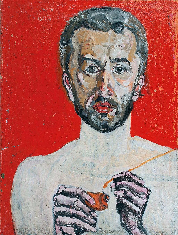 Studium portretu - Portret własny artysty (praca dwustronna), 1977 / 1982