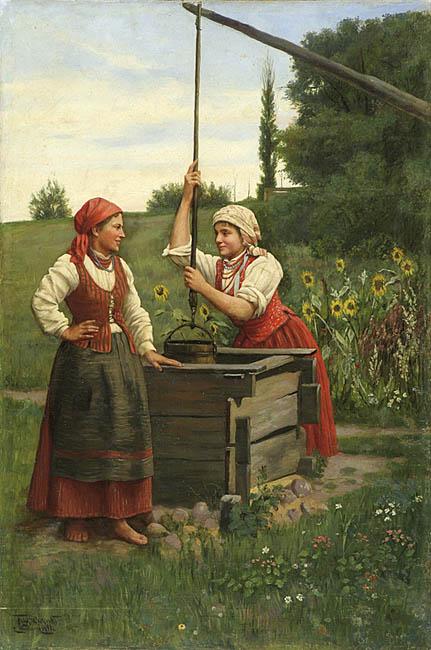 PRZY STUDNI, 1891