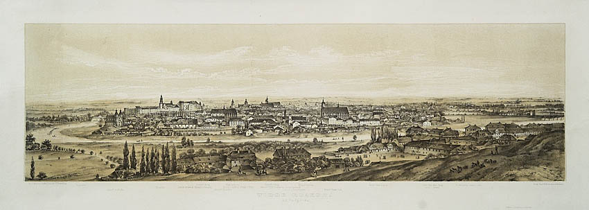 Widok Krakowa, 1860