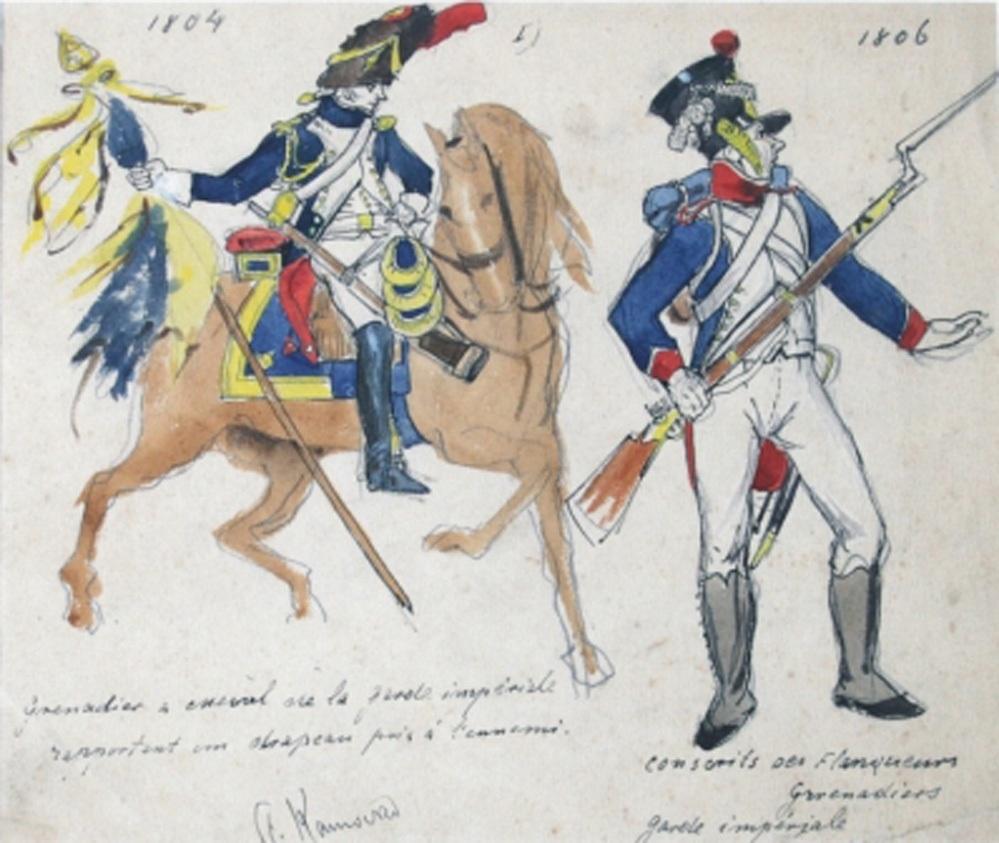 Umundurowanie grenadierów armii napoleońskiej, ok. 1894