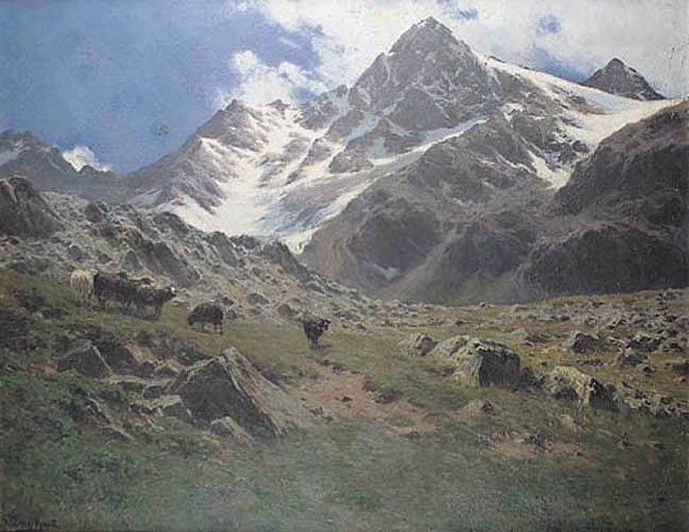 Pejzaż alpejski, widok na szczyt Grieskogel