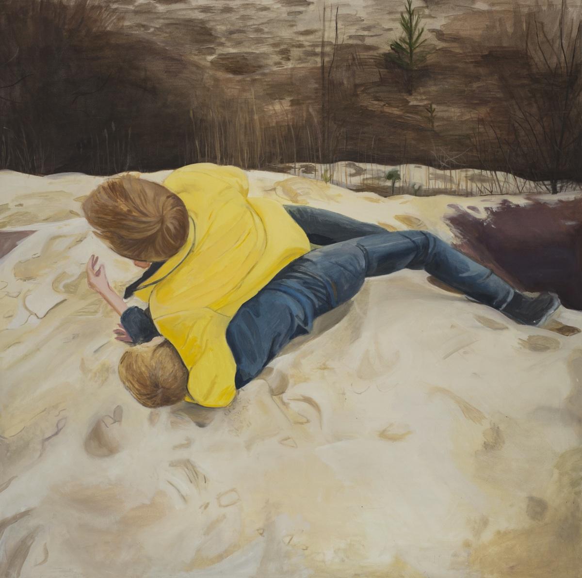 Chłopcy bijący się na pustyni, 2013