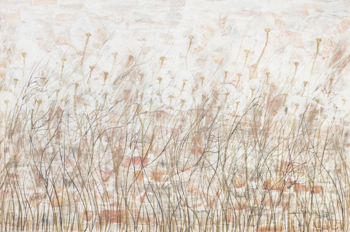 Zmierzwiona łąka z cyklu Zauroczona dmuchawcami, 2017