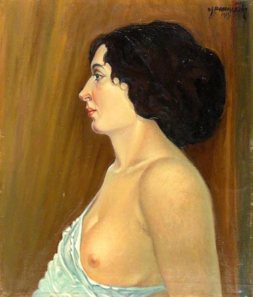 Półakt, 1913