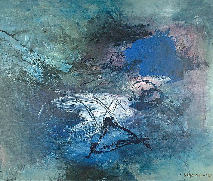 Pejzaż błękitny, 2005
