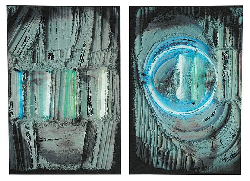 Portrety z neonami - 2 x Dariusz G., 2005