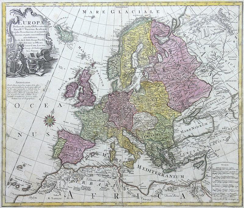 Guillaume Delisle (1675-1726), Tobias Lotter (1717 - 1777)