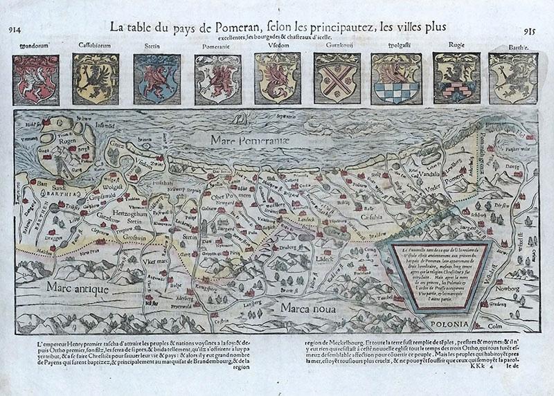 La table du pays de Pomeran, selon les principautez...
