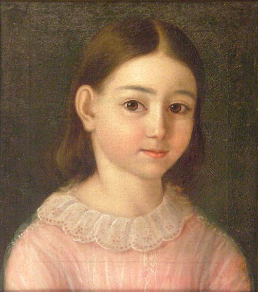 Portret dziewczynki w różowej sukience, 1854