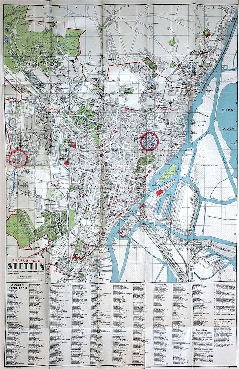 Pharus-Plan Stettin