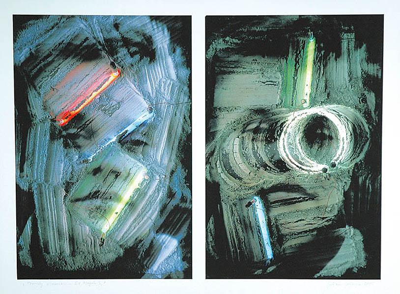 Portrety z neonami - 2 x Marta S., 2005
