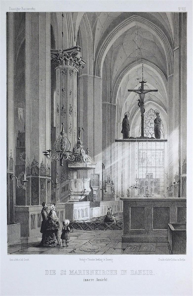 Wnętrze Bazyliki Mariackiej