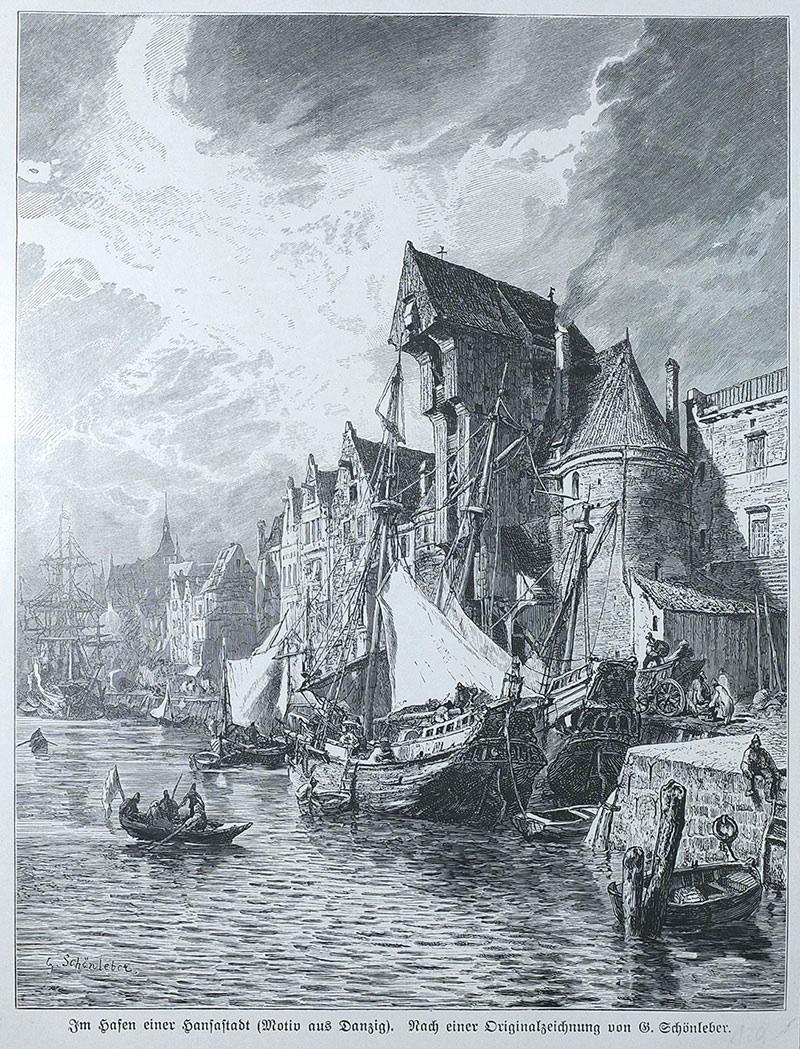 Im Hafen einer Hansastadt (Motiv aus Danzig)