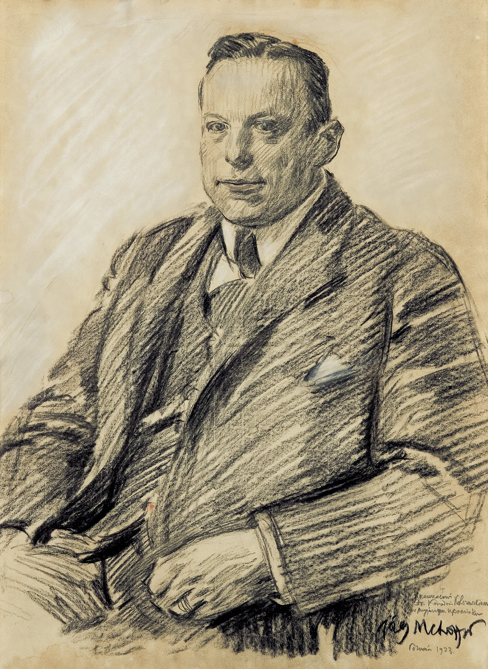 PORTRET MECENASA KONRADA KOLSZEWSKIEGO, 1923