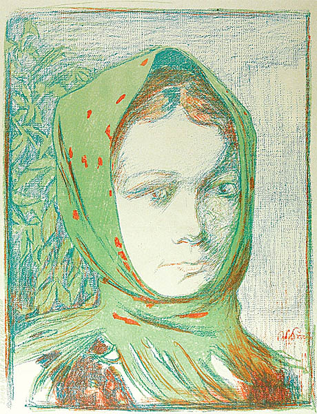 Dziewczyna w zielonej chuście