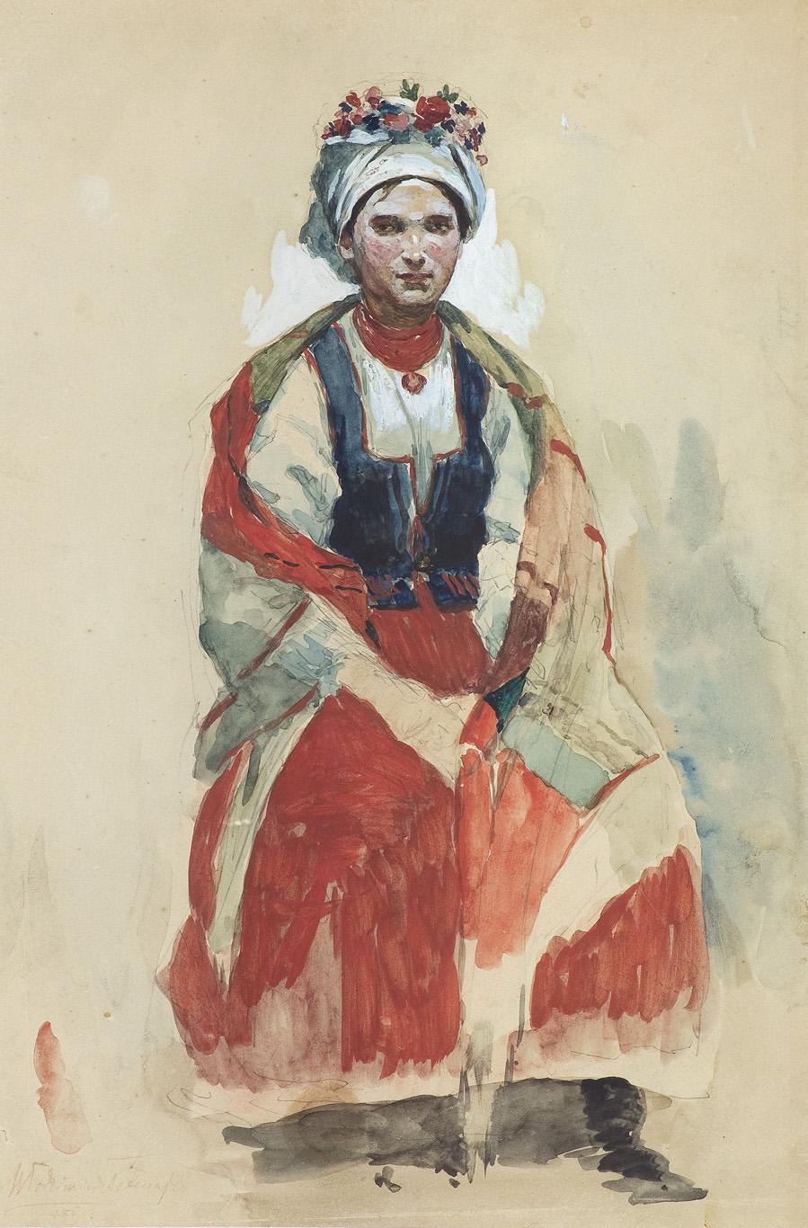 PORTRET ŻONY, ANNY Z MIKOŁAJCZYKÓW TETMAJEROWEJ, 1890