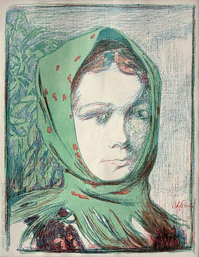 Dziewczyna w chuście, około 1905