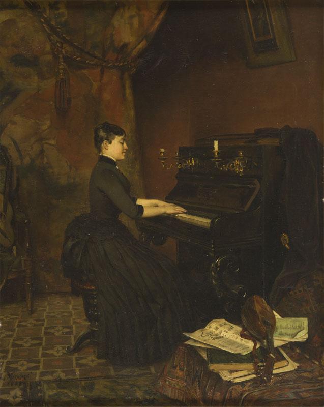 Improwizacja, Pianistka, 1889 r.