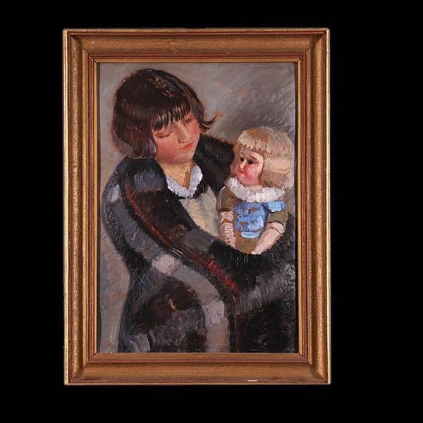 Dziewczynka z lalką, 1929 r.