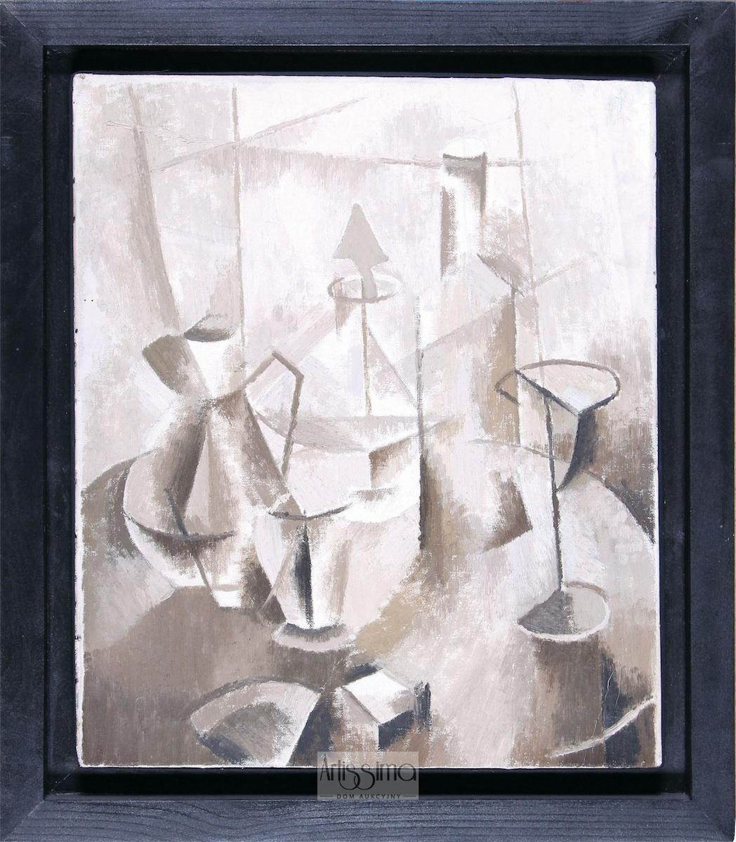 Martwa natura kubistyczna (brązowa), 1953-1954