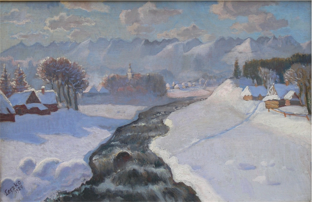 Widok na góralską wieś, 1929