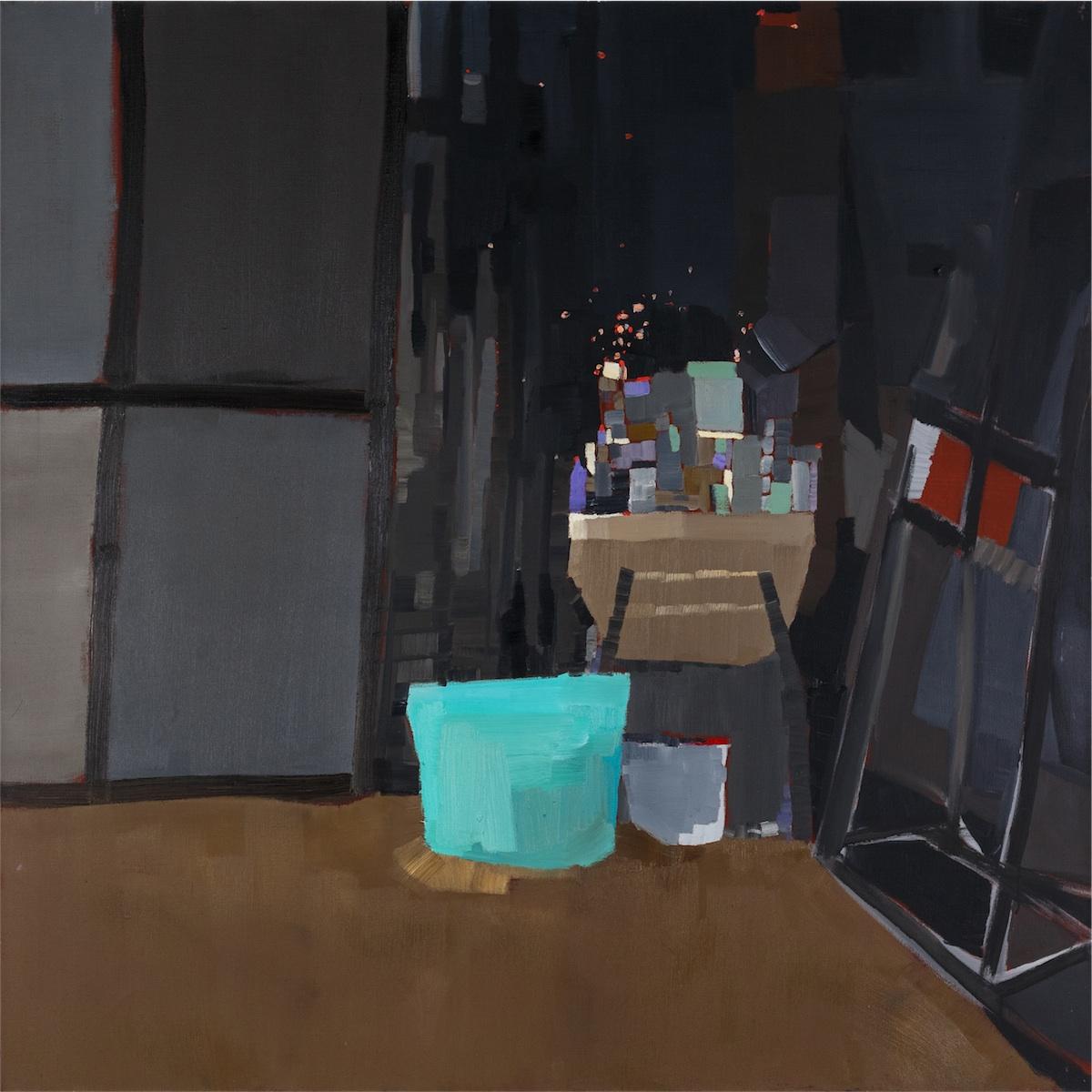 Wnętrze pracowni, 2014