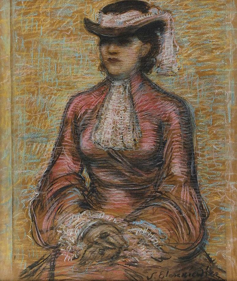 Portret kobiety w kapeluszu