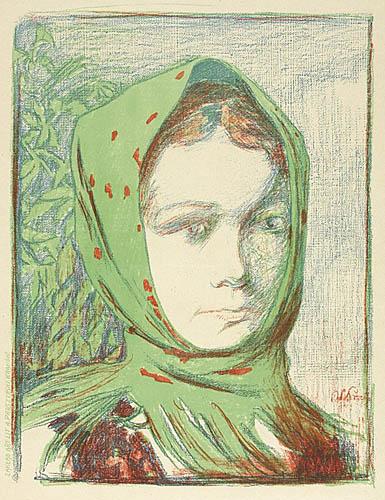 Dziewczyna w chuście, ok. 1905