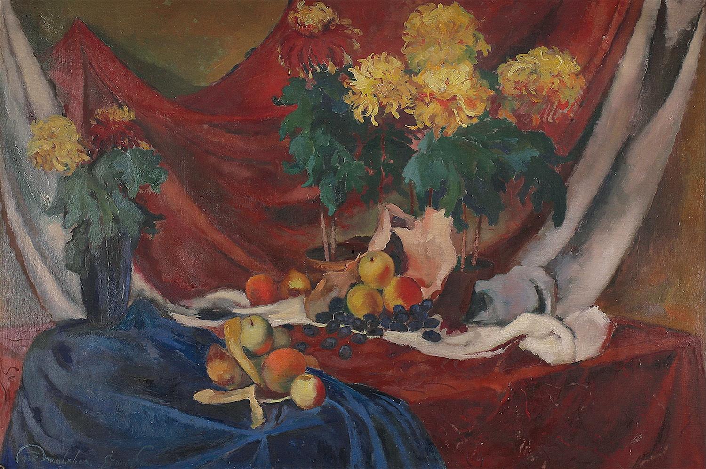 Martwa natura z kwiatami i owocami, 1935