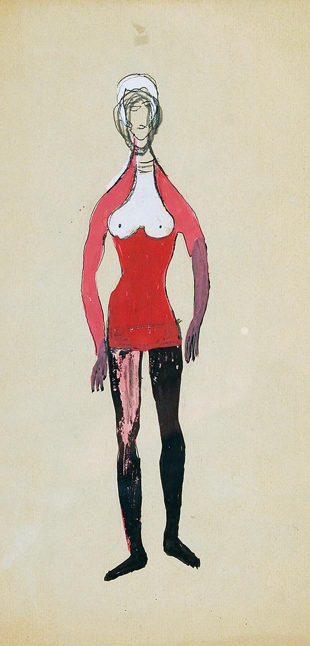 Zestaw pięciu projektów kostiumów, ok. 1956
